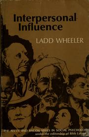 Cover of: Interpersonal influence