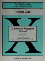 X protocol reference manual by Adrian Nye