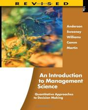 Cover of: An Introduction to Management Science |