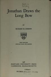 Cover of: Jonathan draws the long bow
