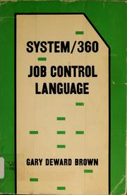 Cover of: System/360 job control language