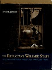 Cover of: The reluctant welfare state
