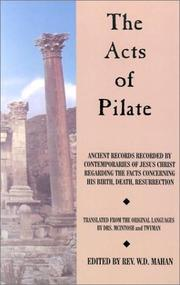 Cover of: The acts of Pilate