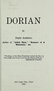 Cover of: Dorian | Nephi Anderson