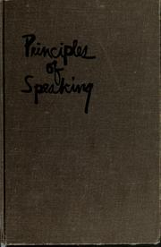 Cover of: Principles of speaking