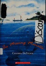 Cover of: The missing manatee