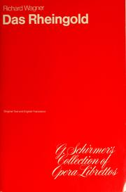 Cover of: Das Rheingold | Richard Wagner