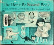 Cover of: The don't be scared book by Ilse Margret Vogel