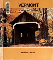 Cover of: Vermont in words and pictures