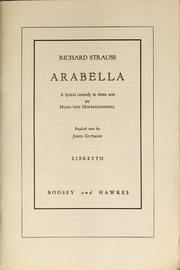 Cover of: Arabella | Richard Strauss