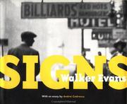 Cover of: Walker Evans: Signs (Getty Trust Publications, J. Paul Getty Museum)