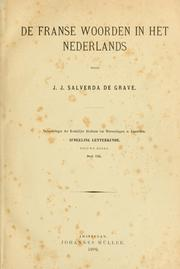 Cover of: De Franse woorden in het Nederlands