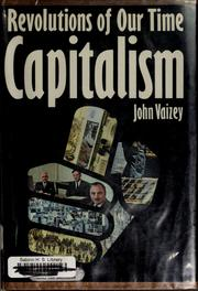 Cover of: Capitalism | Vaizey, John