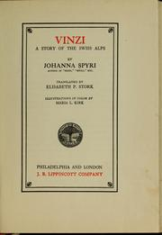 Cover of: Vinzi: A Story of the Swiss Alps