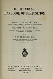 Cover of: High school handbook of composition | Edwin Campbell Woolley
