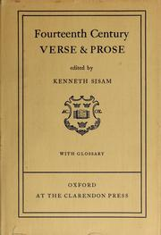 Cover of: Fourteenth Century verse and prose