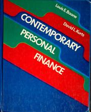 Cover of: Contemporary personal finance
