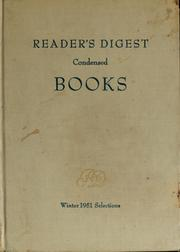Cover of: Reader's digest condensed books | Betty Macdonald