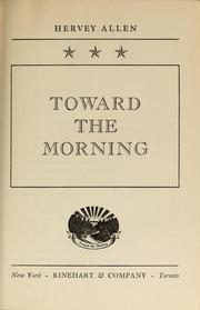 Cover of: Toward the morning