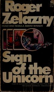 Cover of: Sign of the unicorn | Roger Zelazny