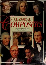 Cover of: Classical composers | Peter Gammond