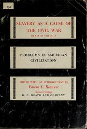 Cover of: Slavery as a cause of the Civil War