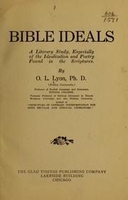 Cover of: Bible ideals | Oliver Lincoln Lyon