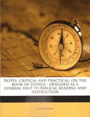 Cover of: Notes, Critical and Practical, on the Book of Joshua