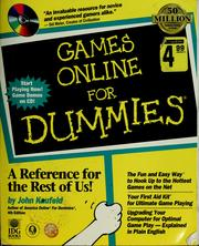 Cover of: Games online for dummies