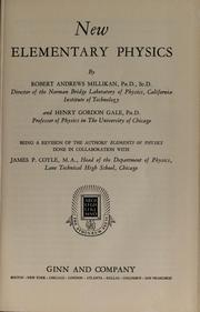 Cover of: New elementary physics