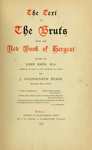 Cover of: The text of the Bruts from the Red book of Hergest
