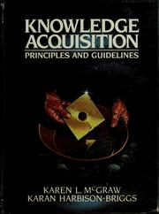 Cover of: Knowledge acquisition