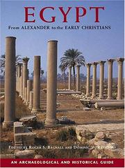 Cover of: Egypt from Alexander to the Early Christians |