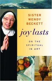 Cover of: Joy lasts: on the spiritual in art