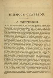 Cover of: Narrative of Dimmock Charlton, a British subject | Dimmock Charlton