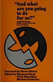 Cover of: And What are You Going to Do for Us? | Margaret Bard, Peter Messaline, Miriam Newhouse