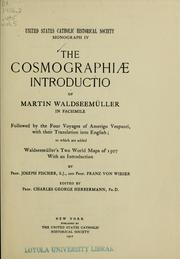 Cover of: The Cosmographiæ introductio of Martin Waldseemüller in facsimilie