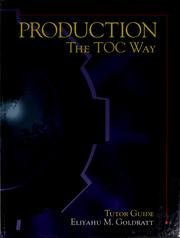 Cover of: Production | Eliyahu M. Goldratt