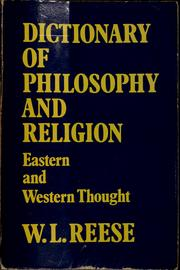 Dictionary Of Philosophy And Religion: Eastern And Western Thought