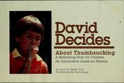 Cover of: David decides about thumbsucking