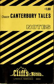 Cover of: Canterbury tales