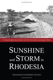 Cover of: Sunshine and storm in Rhodesia