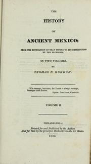 Cover of: The history of ancient Mexico
