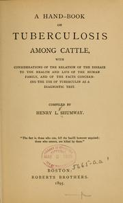 A hand-book on tuberculosis among cattle