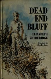 Cover of: Dead End Bluff | Elizabeth P. Witheridge