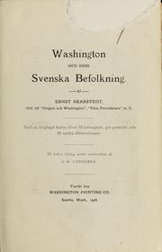 Cover of: Washington och dess svenska befolkning