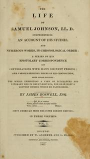 Cover of: The life of Samuel Johnson, LL. D.