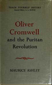 Cover of: Oliver Cromwell and the Puritan Revolution