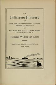 Cover of: An indiscreet itinerary