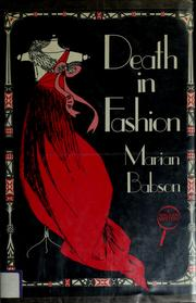 Cover of: Death in fashion